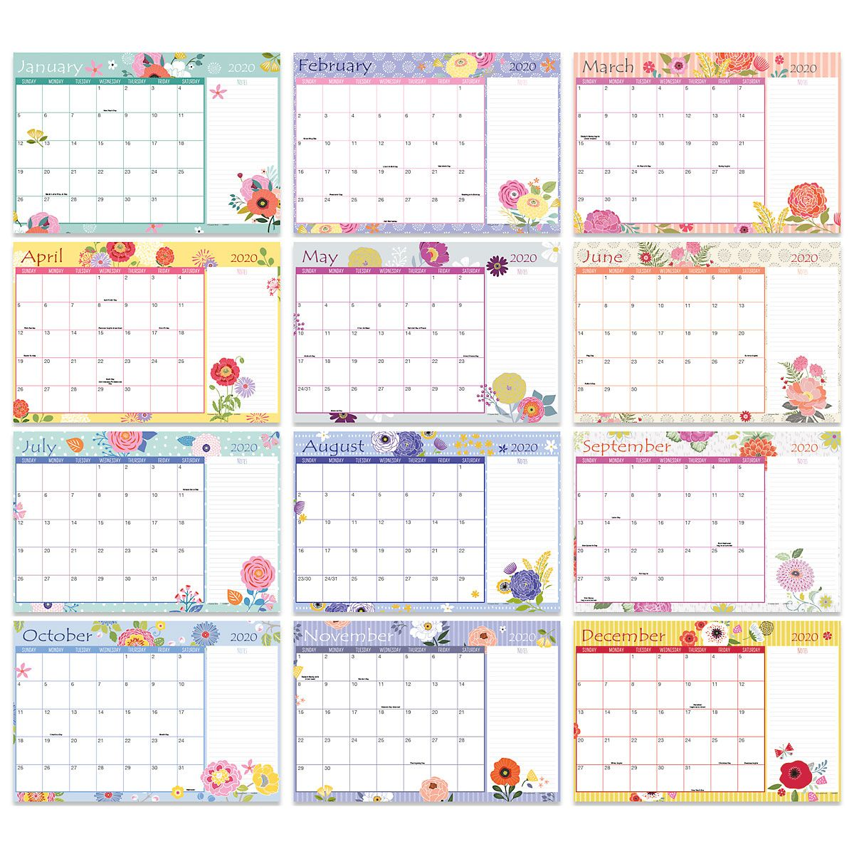 2020-2021 Keep It Simple Calendar Pad