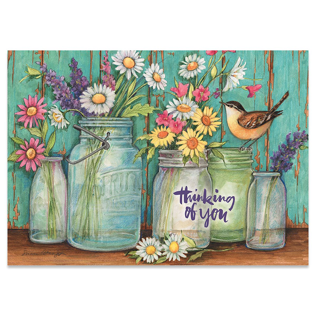 Country Jar Thinking of You Cards - BOGO