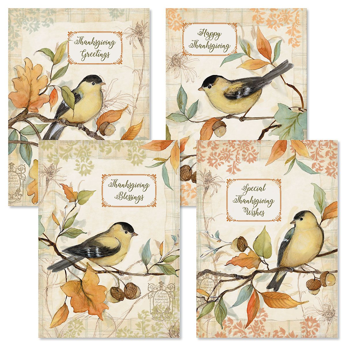 Faith Goldfinches Thanksgiving Cards