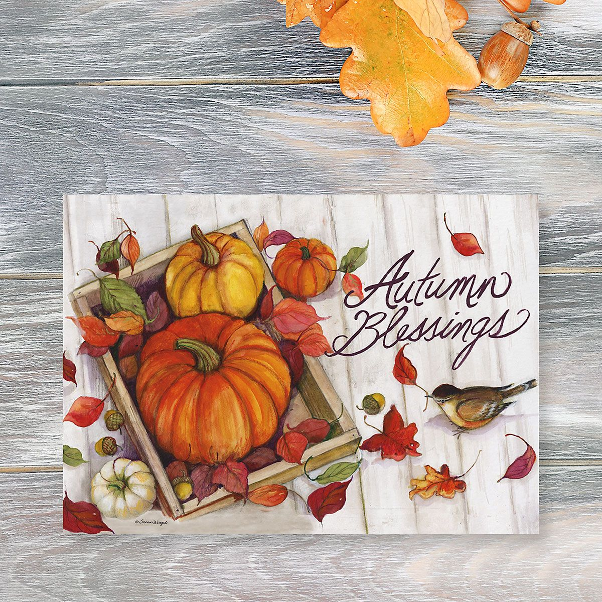 Autumn Blessings Thanksgiving Cards