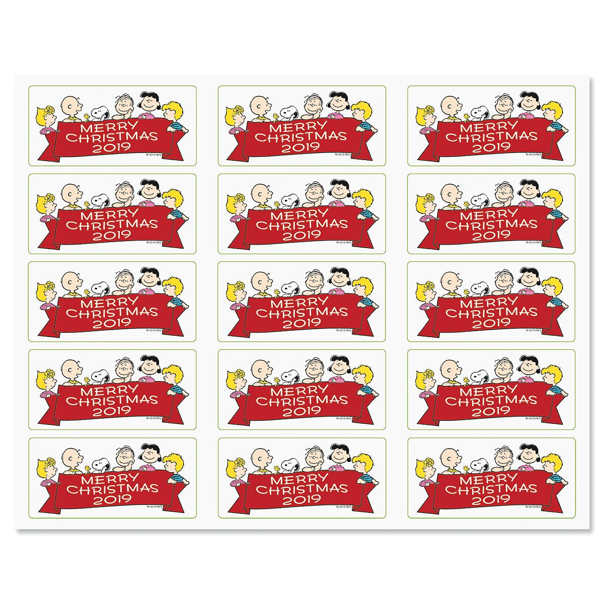 PEANUTS® Merry Christmas Banner Stickers - BOGO