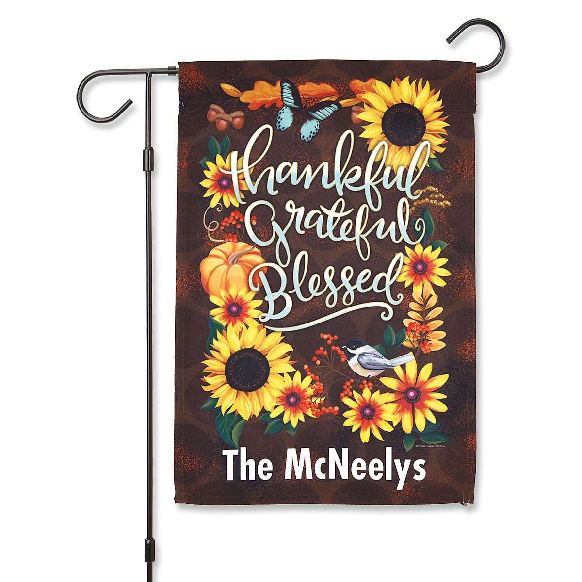 Autumn Welcome Personalized Garden Flag