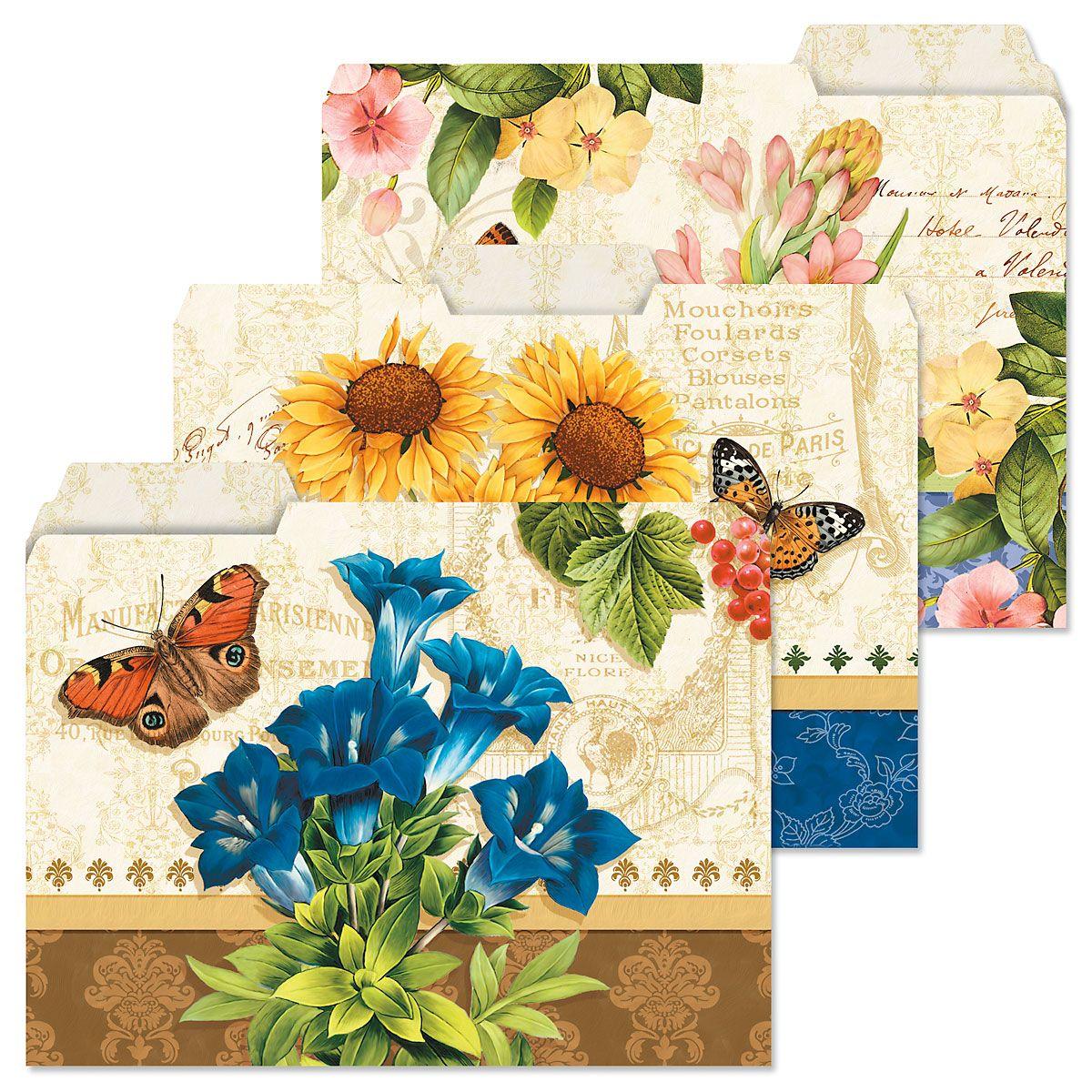 Grande Fleur File Folders Value Pack
