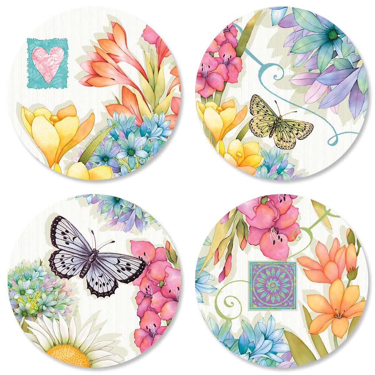 Summer Garden Seals (4 Designs)