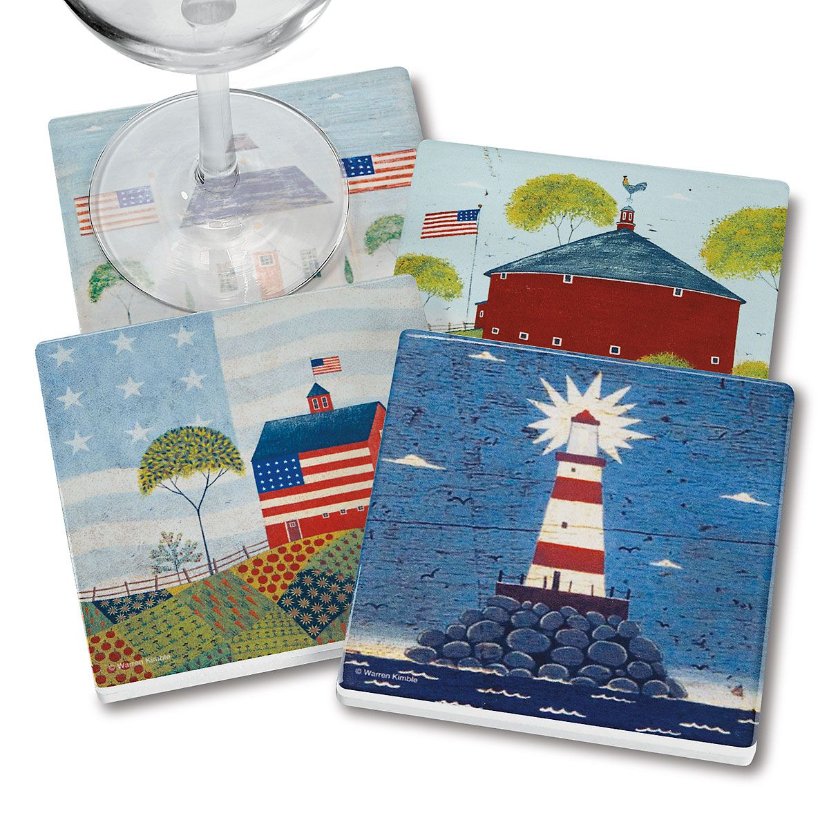Americana Coasters