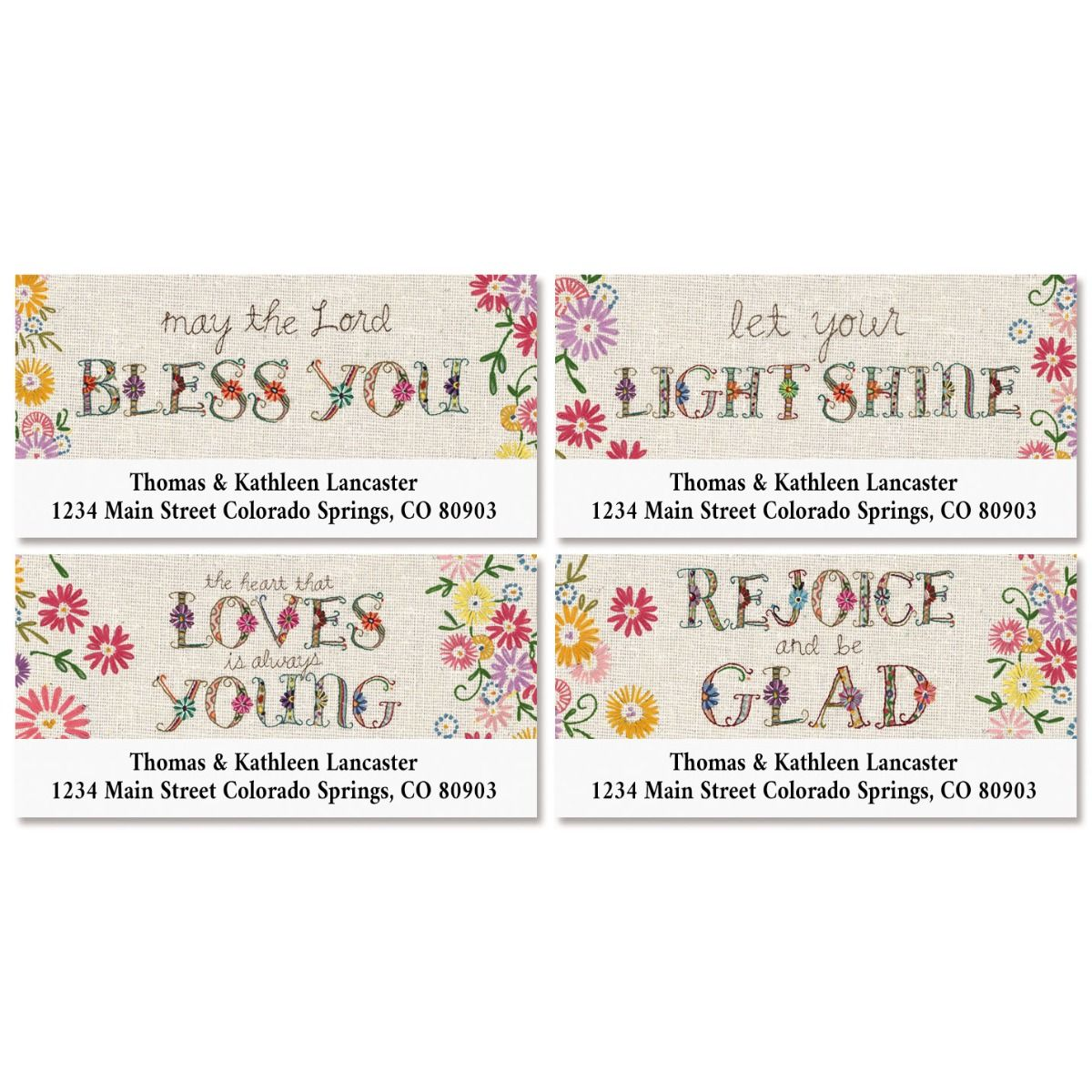 Hand Stitch Deluxe Address Labels