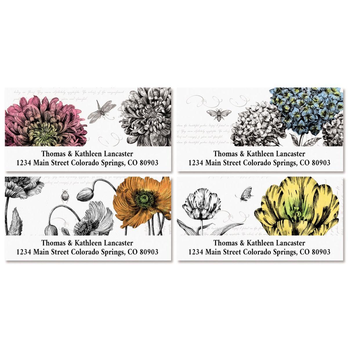 Vintage Botanicals Deluxe Address Labels