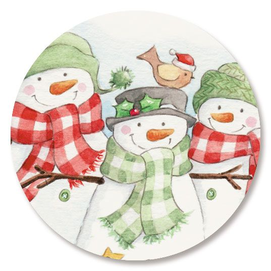 Snowmen Trio Seals