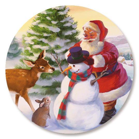 Santa's Woodland Friends Seals