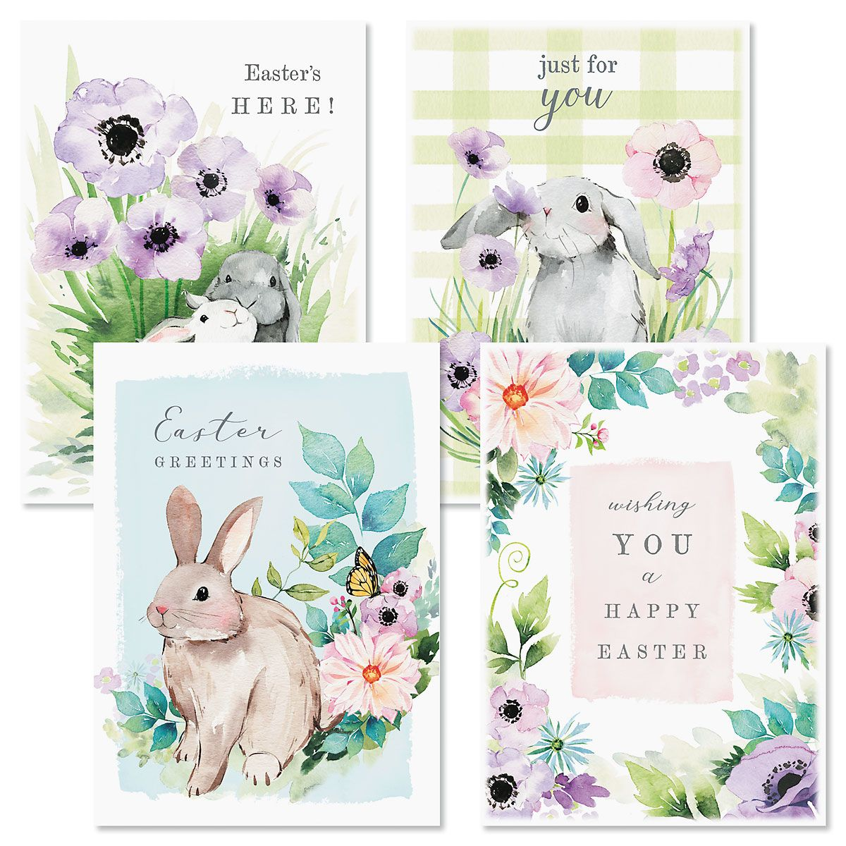 Bunny Garden Easter Cards and Seals