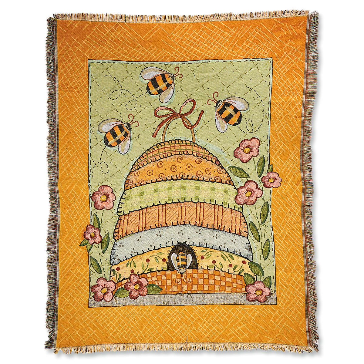 Spring Beehive Throw