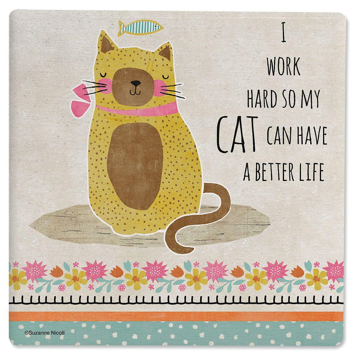Crazy Cat Coasters
