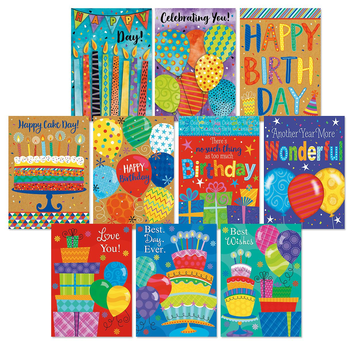 Happy Days Birthday Greeting Cards Value Pack