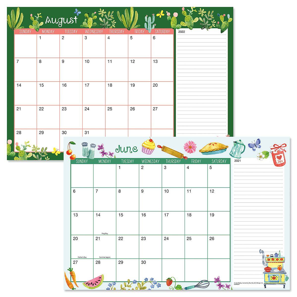 2021-2022 Whimsey Borders Calendar Pad