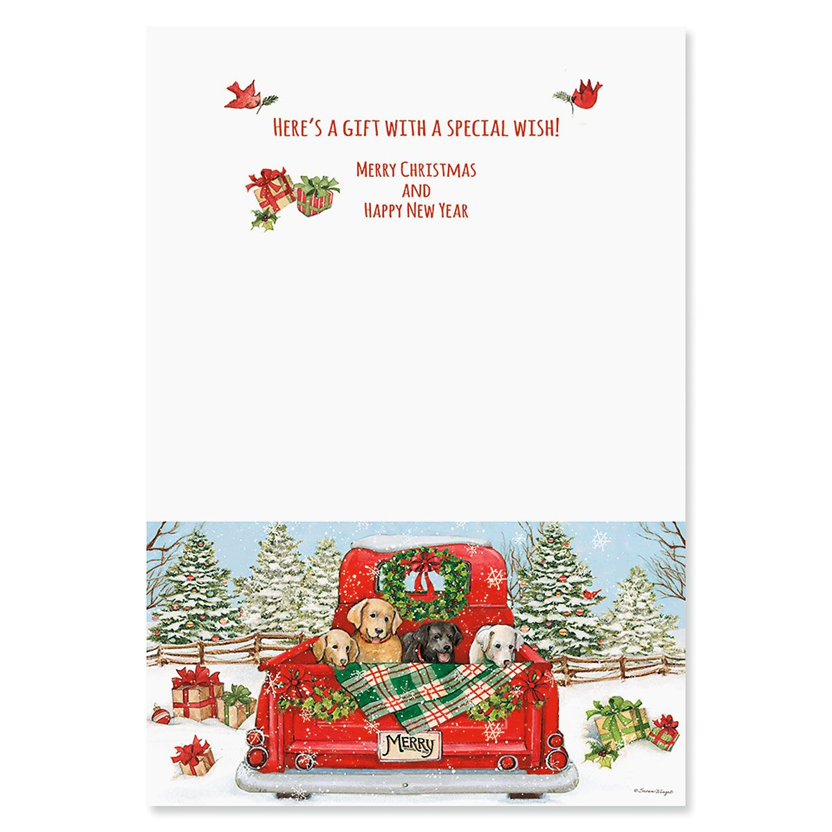 Red Truck Puppy Cash or Gift Card Holders
