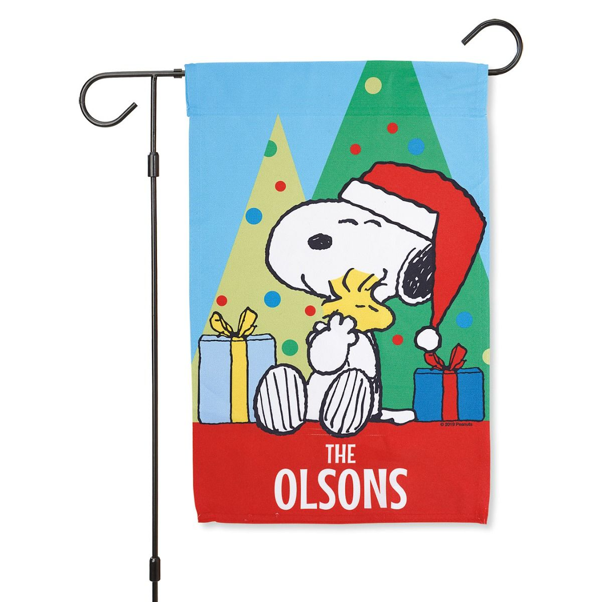 PEANUTS® Christmas Personalized Garden Flag