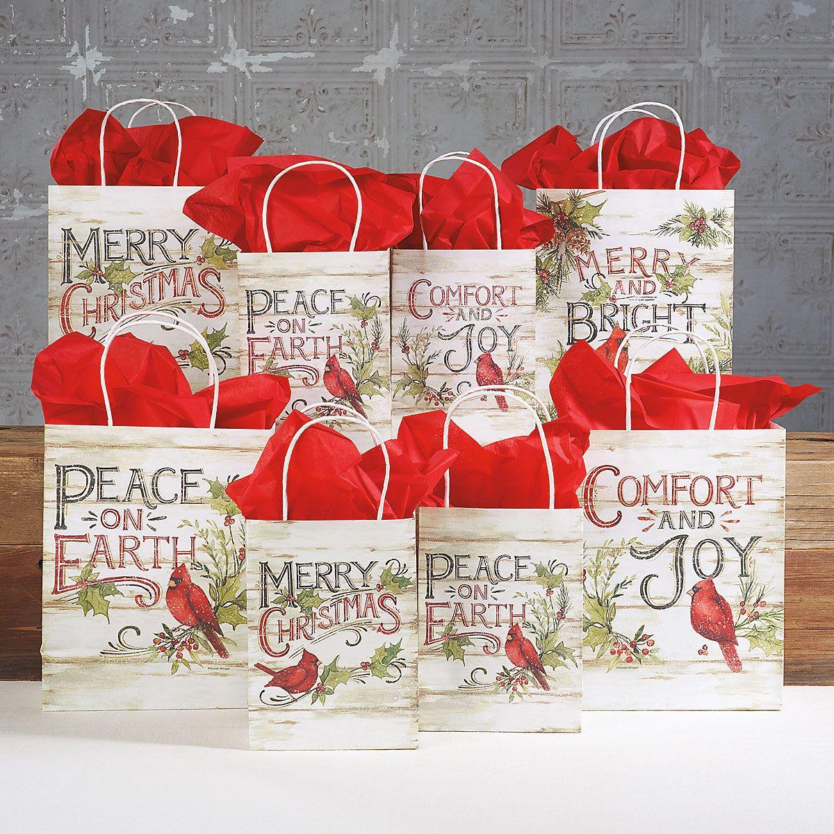 Christmas Cardinals Gift Bags