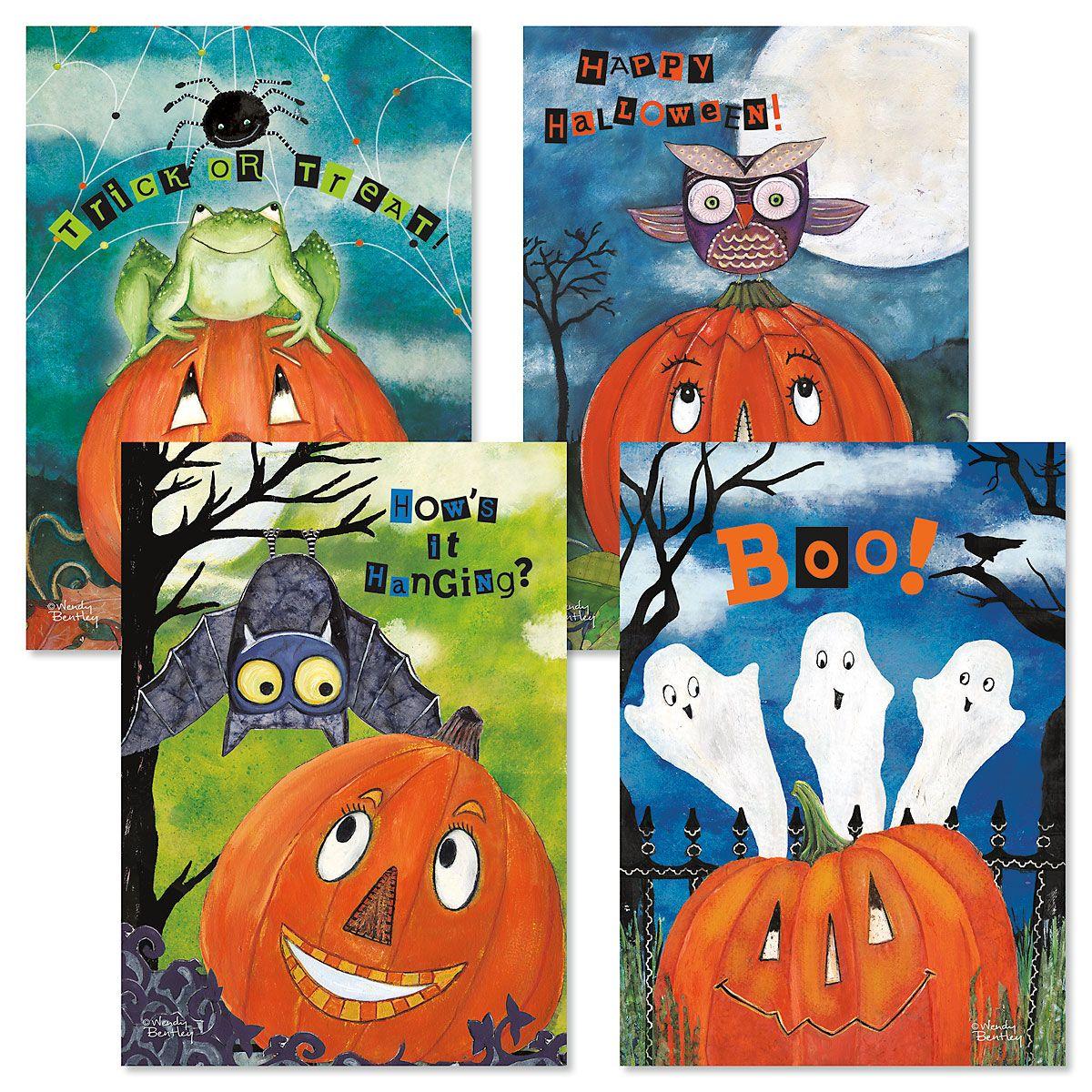 Halloween Friends Cards Fun