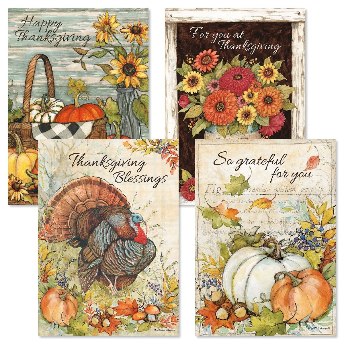 Autumn Colors Thanksgiving Cards