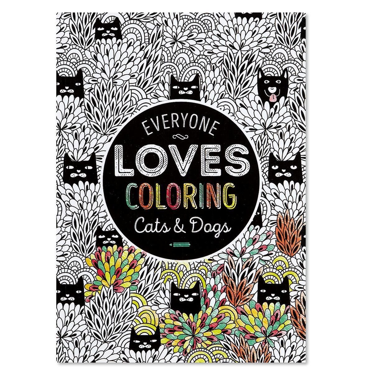 Cats & Dogs Coloring Book for Adults