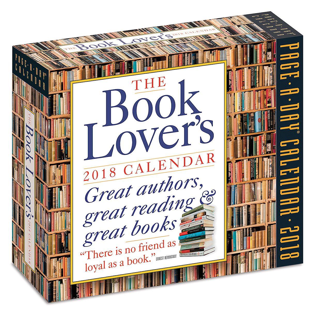 Book Lover's 2018 Calendar