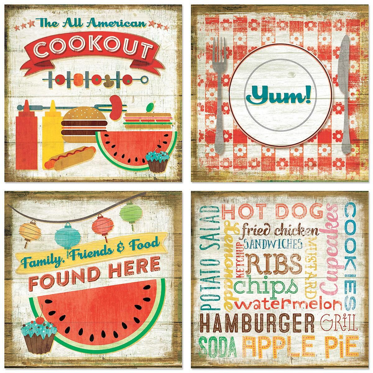Cookout Hardboard Coasters