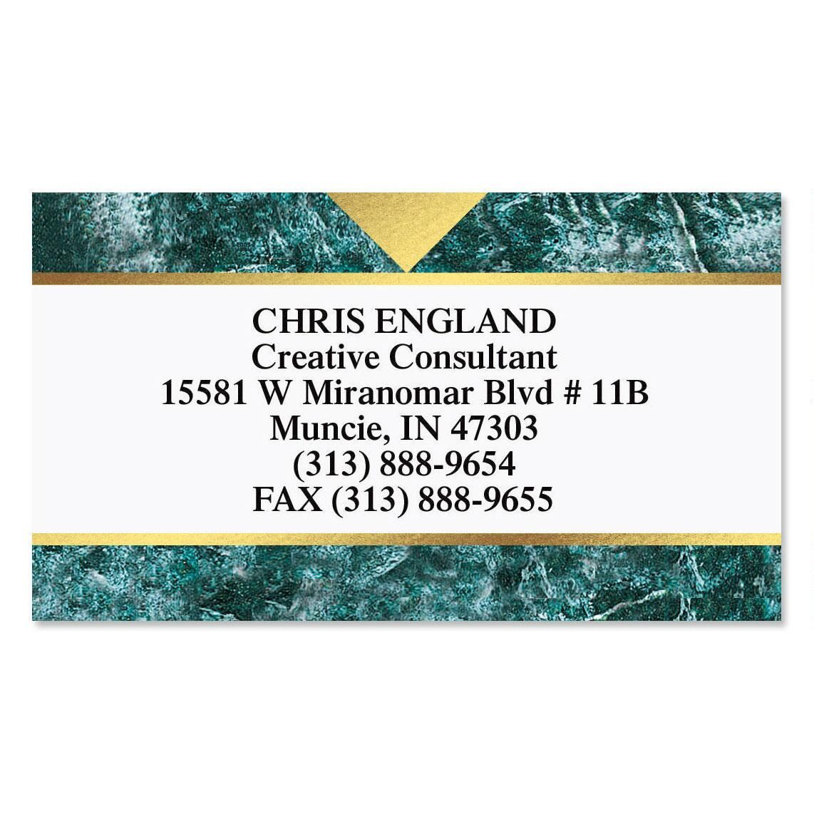 Marble & Gold Foil Calling Card | Current Catalog