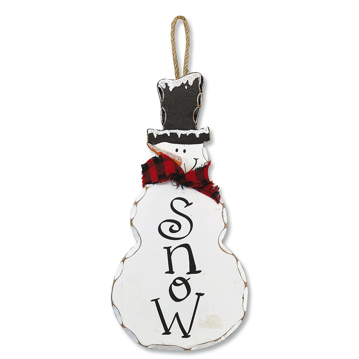 Snowman Plaque Christmas Décor