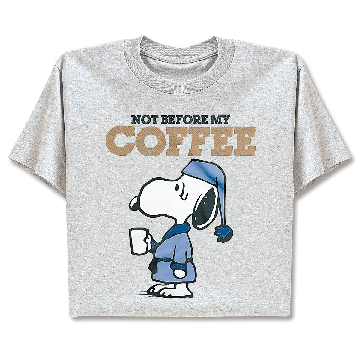 PEANUTS® T-Shirt - Not Before My Coffee - Medium