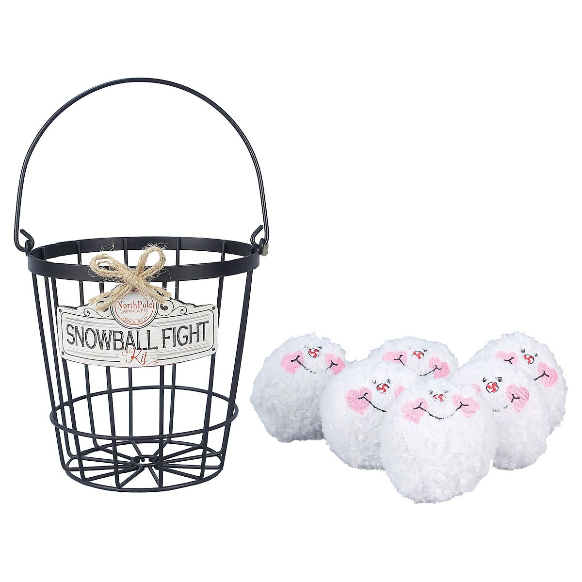 Indoor Christmas Snowball Fight Set