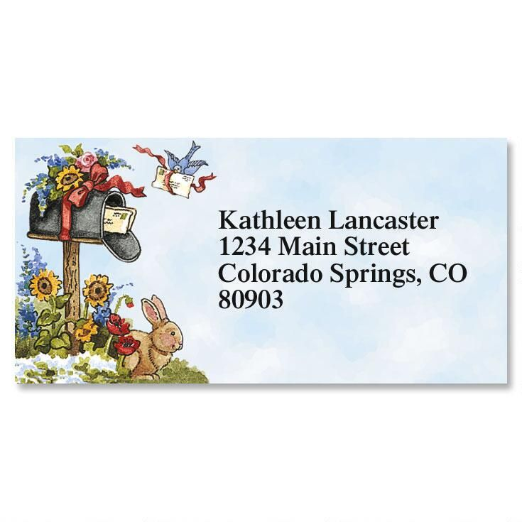 Hare Mail Border Address Labels