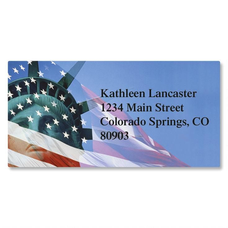Liberty Stands Border Address Labels
