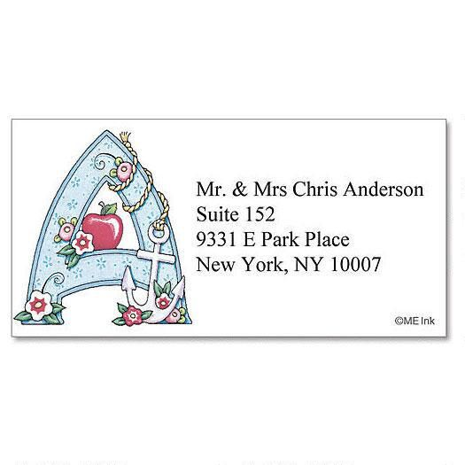 Me Initials Border Address Labels