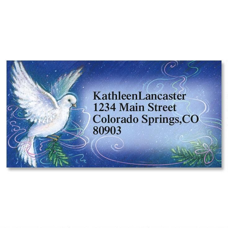 Spirit Of Peace Border Address Labels