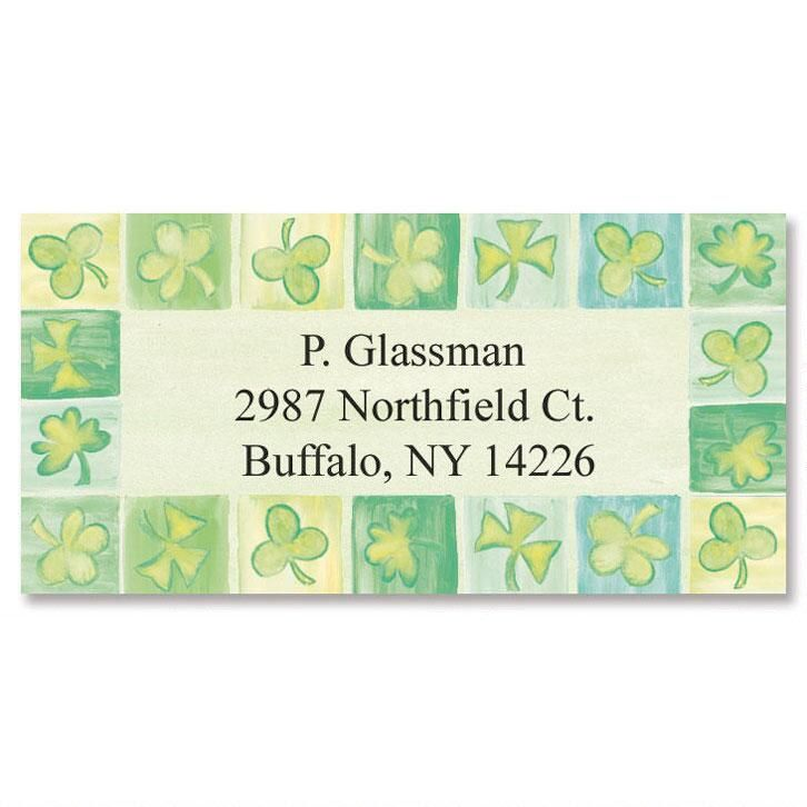 Parade of Seasons Shamrock Border Address Labels