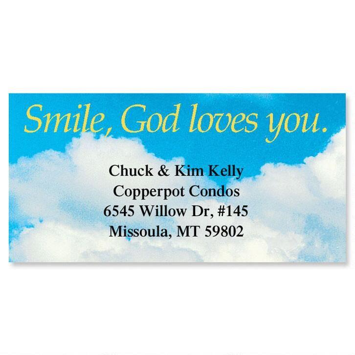 Smile, God Loves You Border Address Labels