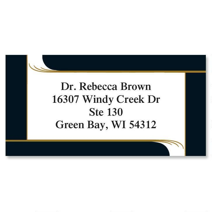 Onyx Border Address Labels