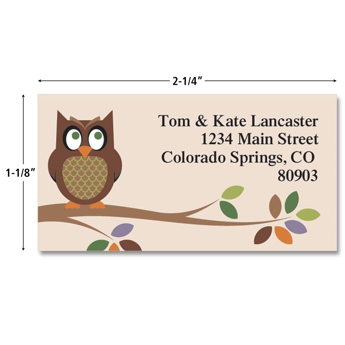 Owl Border Address Labels