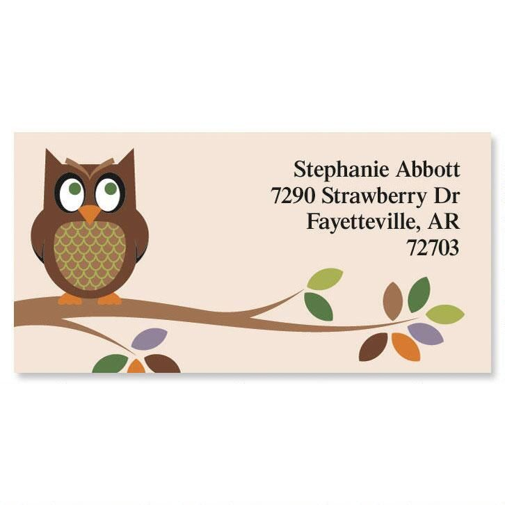 Owl Border Address Labels