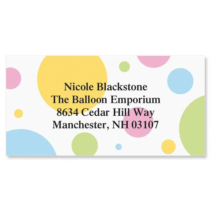 Dotty Border Address Labels