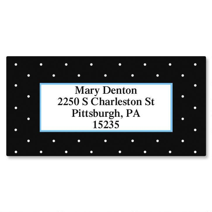 Tiny Dots Border Address Labels