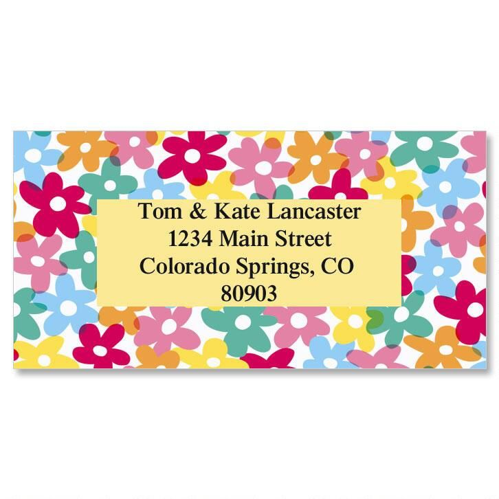 Mini Posies Border Address Labels