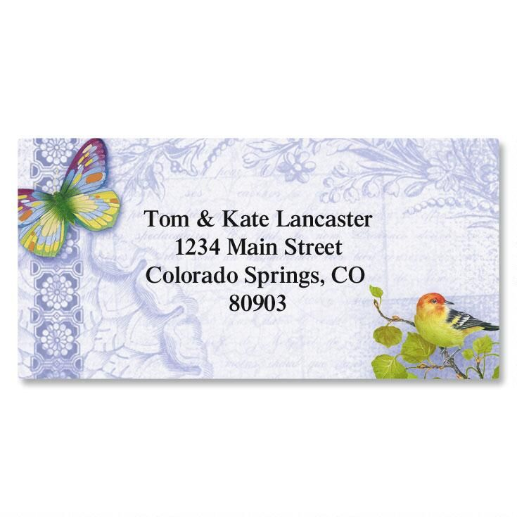 Exotic Prints Border Address Labels