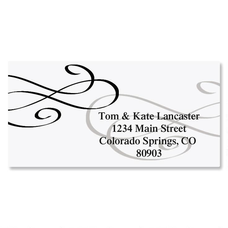 Tiffany Border Address Labels
