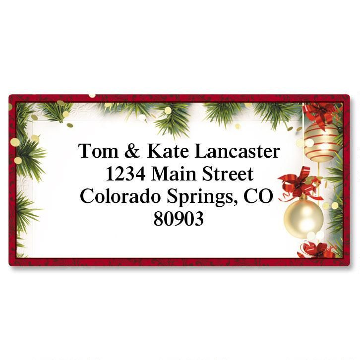 Christmas Twilight Border Address Labels