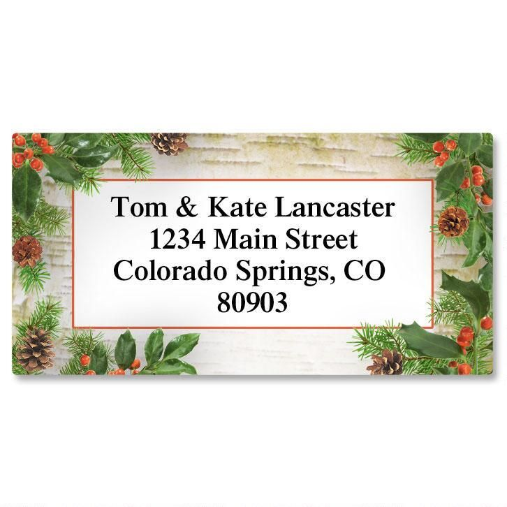 Woodland Whimsy Border Address Labels