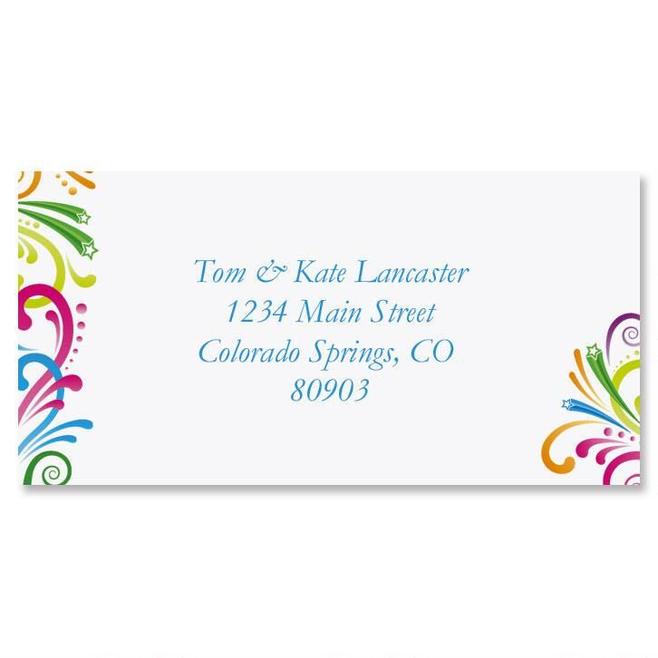Party Spirit Border Address Labels