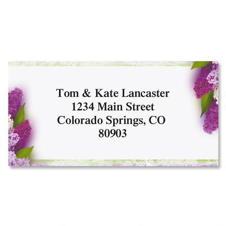 Sweet Lilacs Border Address Labels