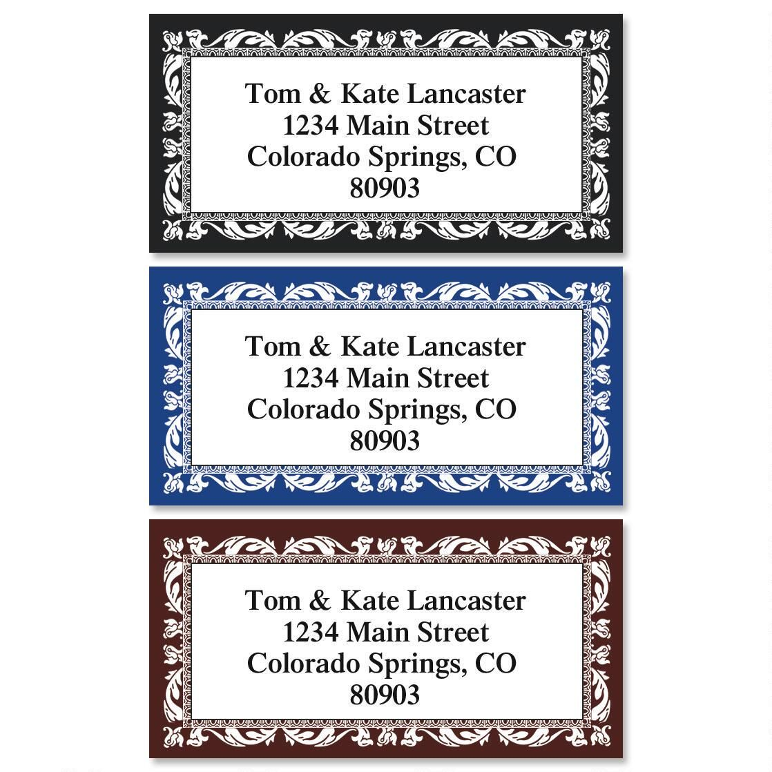 Adornment Border Address Labels