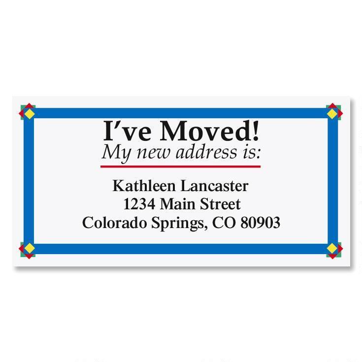 I've Moved Border Address Labels